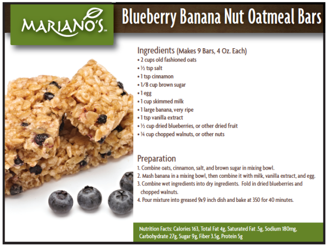 Recipe%2C Blueberry Banana Nut Oatmeal Bars